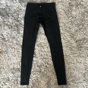 Lululemon wunder under black leggings